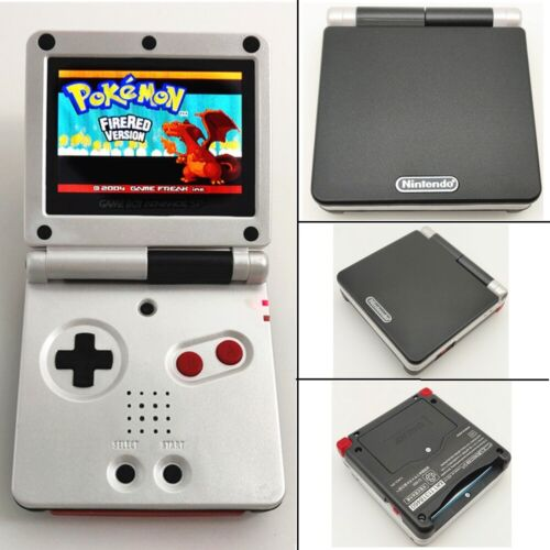 Black White Special Game Boy Advance GBA SP Console AGS 101 Brighter Backlit