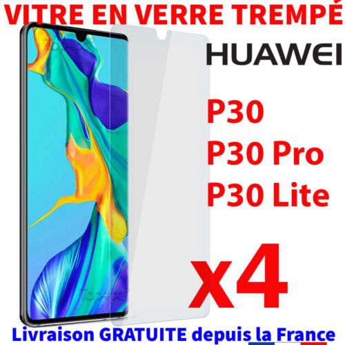 PROTECTION HUAWEI P30 PRO LITE VERRE TREMPÉ FILM TRANSPARENT VITRE GLASS SCREEN <br/> Pack Protection Ecran Huawei P30 / P30 Pro / P30 Lite