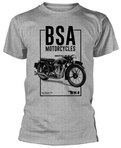 BSA Motorcycles 'Empire Star' (Grey) T-Shirt - NUOVO E UFFICIALE!