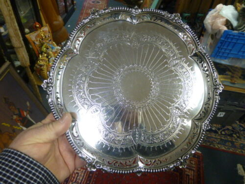 1895 Antique London Sterling Silver Salver by Horace Woodward & Co. 1893-1916