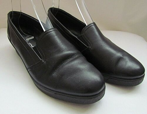 ROHDE 100% BLACK LEATHER WEDGE CASUAL SHOES SIZE - UK 6.5