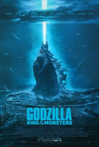 Godzilla: King of the Monsters (2019) Movie poster wall poster Choose your Size
