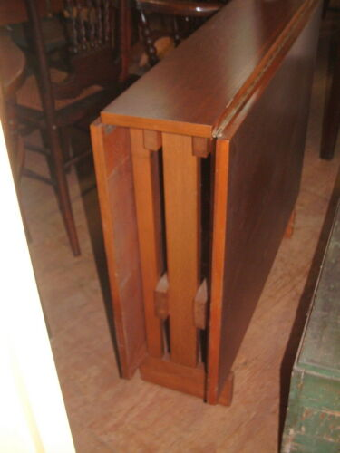 """ANTIQUE Rare Mahogany """"Skinny"""" Folding Table Only 9"""" wide X 36"""" X 29"""". 55"""" Open"""
