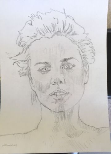 Charlize Theron Portrait.Original Art.Drawing of Brilliant South African Actress