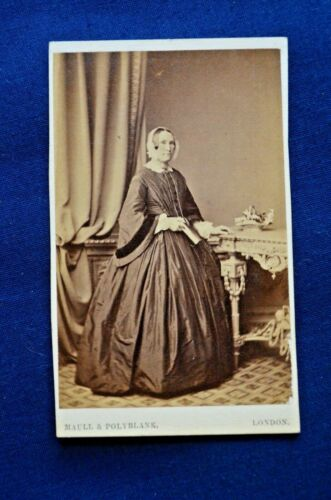 CDV of English Woman, ID'd and Dated with Photographer Stamp