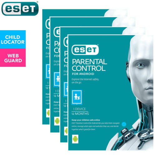 4PK ESET Parental Control Web Security 1yr Software Download for Android Devices