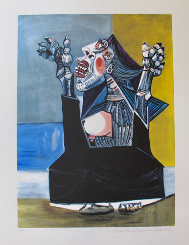 Pablo Picasso THE SUPPLIANT Estate Signed Limited Edition Art Giclee