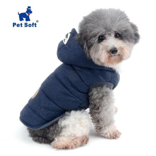 Dog Jacket with Hood- Soft winter vest style coat for Cat, Puppy & small Pets