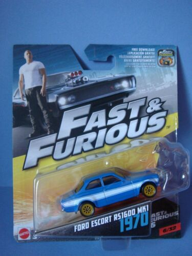 Voiture Plymouth Ford Escort RS1600 MK1 1970 Fast and Furious 1/32 métal Mattel