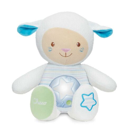 Chicco Lullaby Sheep Baby Toy/Night light w/Voice Recorder/Sound Sensor 0m+ Blue