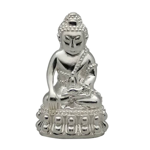 Thai Amulet Phra Kring Silver LP Mee Thai Amulet Lucky Wealth Success Protection