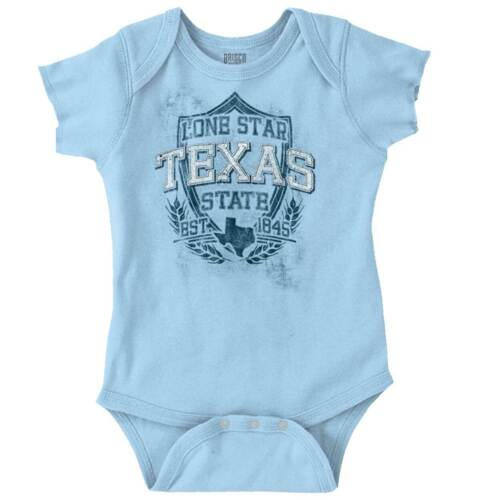 Texas State Motto Souvenir Tourist Travel Girls Youth Newborn Infant Rompers