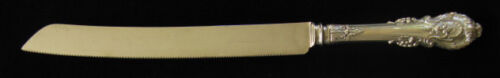 WALLACE SIR CHRISTOPHER STERLING WEDDING CAKE/BREAD KNIFE