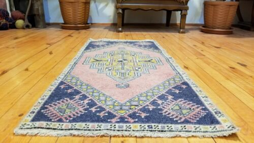 Antique 1900-1930's Overdyed Tribal Rug 1'7'' x 3'
