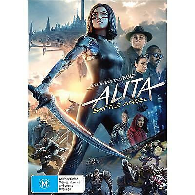 ALITA BATTLE ANGEL DVD, NEW & SEALED, 2019 RELEASE, FREE POST.