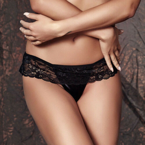 ANAIS Sabrisse Luxury Super Soft Decorative Satin and Lace G-String