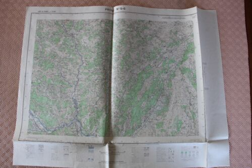Map France 1/25000 Privas No. 5-6. Institute Geographical National. 1957