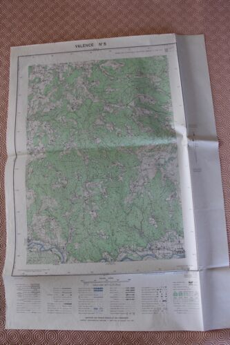 Map France 1/20000 Valencia No. 5. Institute Geographical National. 1952