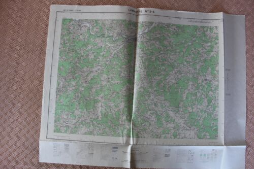 Map France 1/25000 Lamastre No. 3-4. Institute Geographical National. 1957
