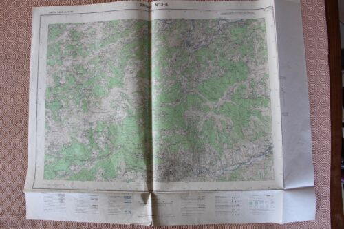 Map France 1/25000 Privas No. 3-4. Institute Geographical National. 1957