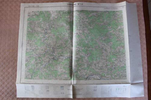 Map France 1/25000 Lamastre No. 1-2. Institute Geographical National. 1957