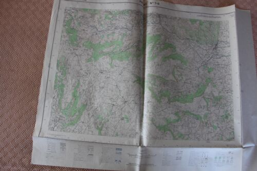 Map France 1/25000 Privas No. 7-8. Institute Geographical National. 1957