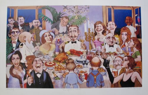 Charles Bragg CAPTAIN'S TABLE Hand Signed Limited Edition Lithograph Art