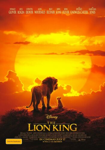 THE LION KING Official 2019 POSTER High Quality wall Art poster Choose your Size