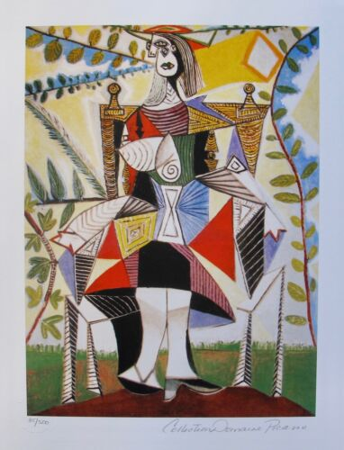Pablo Picasso GIRL IN COLORFUL DRESS Estate Signed Limited Edition Small Giclee