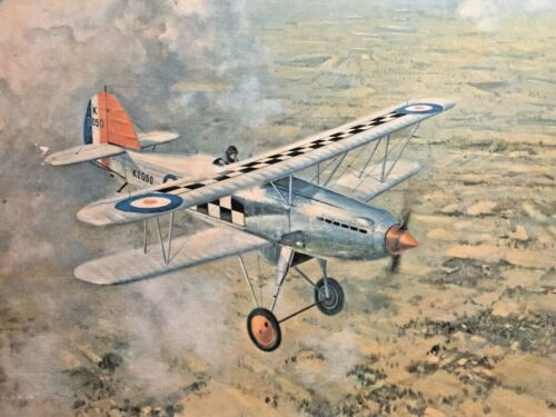 K250 Biplane - art print on canvas by Gerald Coulson