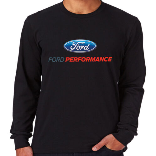 Velocitee Mens Long Sleeve T-Shirt Ford Performance Motorsport Logo A20859