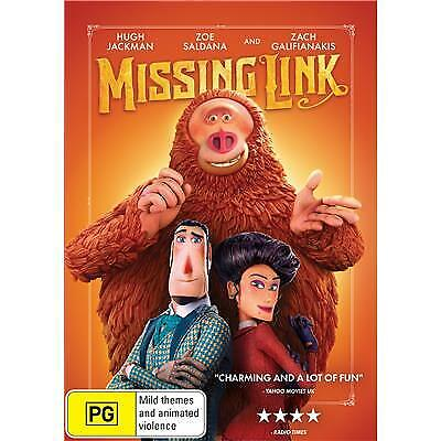 MISSING LINK DVD, WITH HUGH JACKMAN, NEW & SEALED, 2019 RELEASE, FREE POST