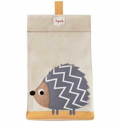 3 Sprouts Diaper Stacker - Grey Hedgehog