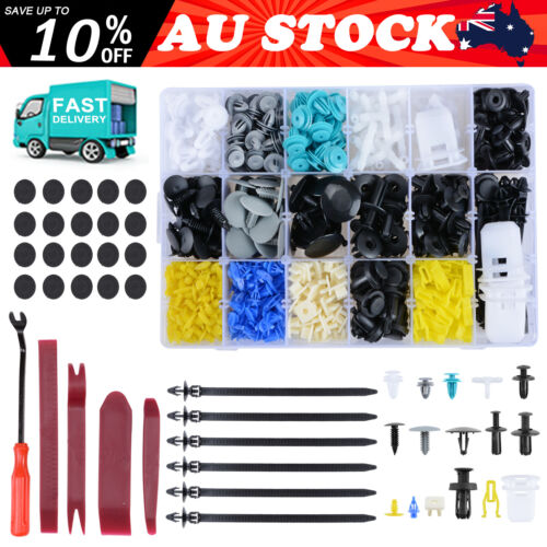 762PCS Car Trim Body Clips Kit Rivet Retainer Door Screw Panel Bumper Fastener <br/> ✔SAVE UP TO 15% OFF✔AU STOCK✔Fast Dispatch