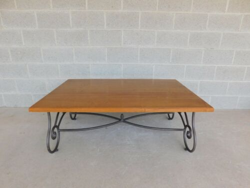 Ethan Allen Legacy Collection Wrought Iron Base Coffee / Cocktail Table 13-8320