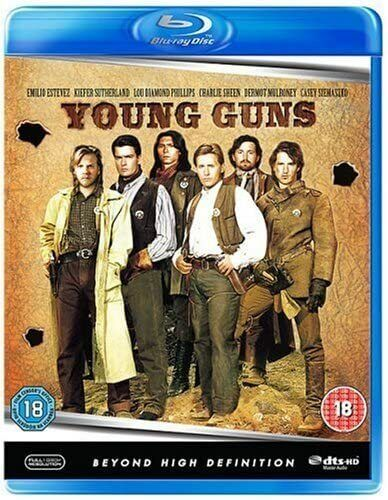 YOUNG GUNS (1988) Blu Ray Charlie Sheen Region Free New & Sealed