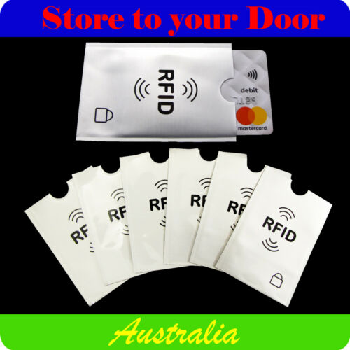 RFID Credit Card Blocking Sleeve Secure Protector Anti Theft Scan Wallet Insert
