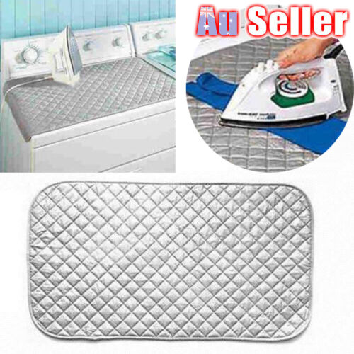 Cotton Ironing Mat Travel Dryer Washer Iron Board Compact Magnetic Portable