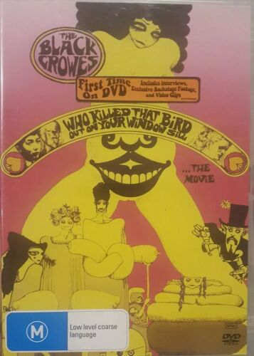 THE BLACK CROWES RARE DVD WHO KILLED THAT BIRD OUT ON YOUR WINDOW SILL THE MOVIE