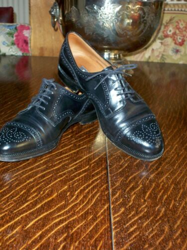 LADIES BALLY SCRIBE  BLACK BROGUES   SHOES  UK 8D    MADE IN SWITZERLAND