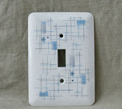 MCM Atomic - Metal Light Switch Cover - Franciscan Oasis Stoneware Style-New- Lg