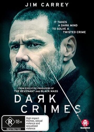 DARK CRIMES with JIM CARREY DVD, NEW & SEALED, 2018 RELEASE, FREE POST