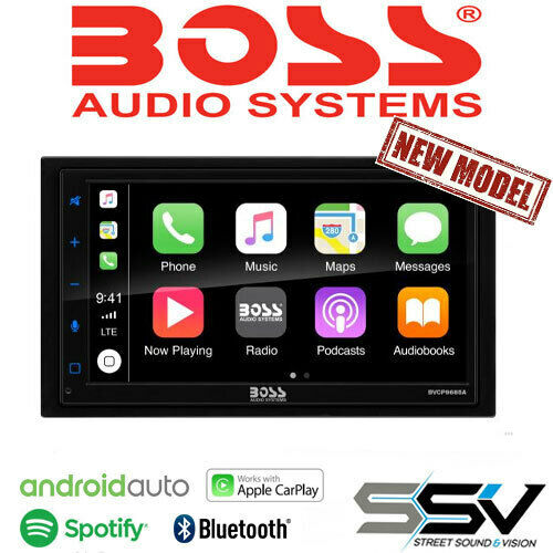 """Boss BVCP9685A Apple CarPlay, Android Auto, 6.75"""" Touchscreen Bluetooth"""