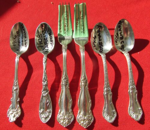 1900's Silver Plate For Jewelry or Crafts, Lot of 6 items
