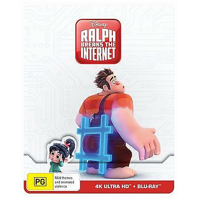 RALPH BREAKS THE INTERNET BLU-RAY STEELBOOK, 2019 RELEASE, FREE POST