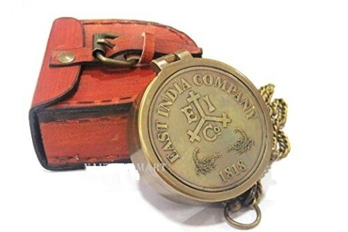 Brass Compass Engraved 1818 East India Company -Personalized Compass, gift