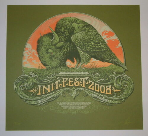 Init Fest Sioux Falls Aaron Horkey Concert Poster Print Signed & Numbered 2008