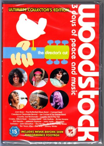 WOODSTOCK - Ultimate Collector's Edition DVD 4 Discs Region 4 (AUS) New & Sealed