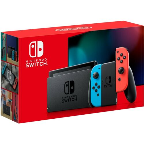 Nintendo Switch Console (New Look Packaging) - Neon