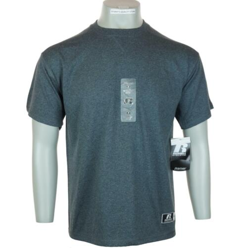 BNWT Uomo Russell Athletic Performance Assorbimento Umidità T-Shirt M L XL Grey